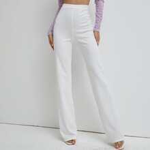 pantalones de pierna recta de cintura alta
