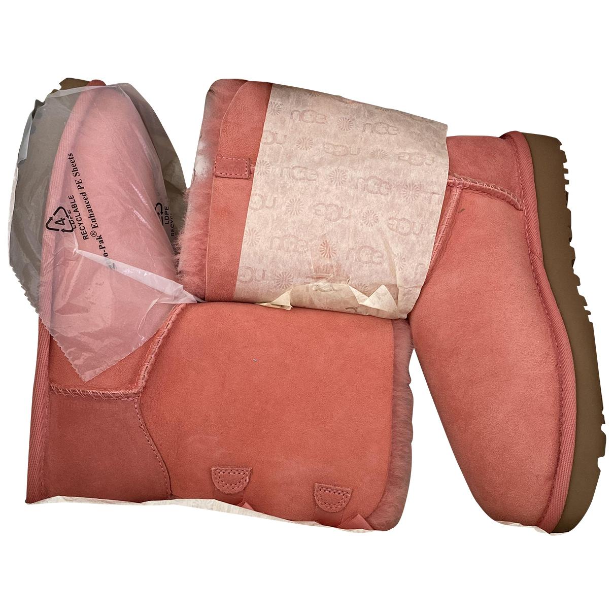 Ugg - Boots   pour femme en cuir - rose