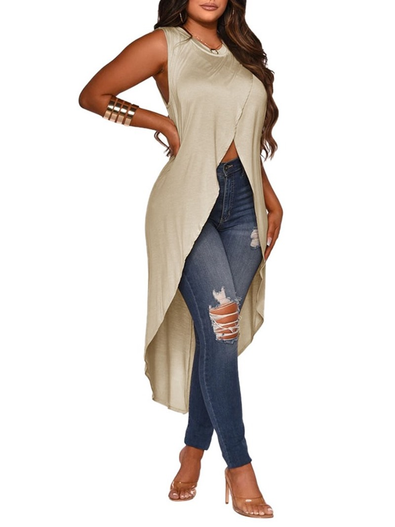 Ericdress Polyester Womens Mid-Length Tank Top