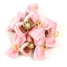 10pcs Bow Decor Cat Hair Tie