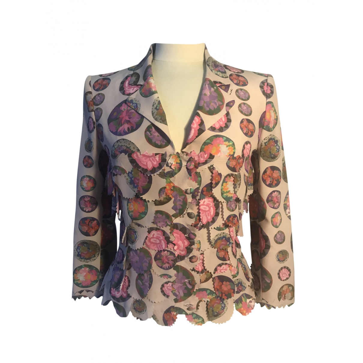 Fendi \N Pink Silk jacket for Women 38 IT