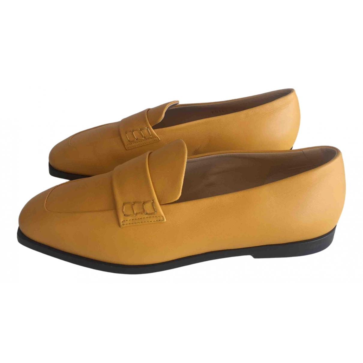 Dear Frances \N Yellow Leather Flats for Women 37 EU
