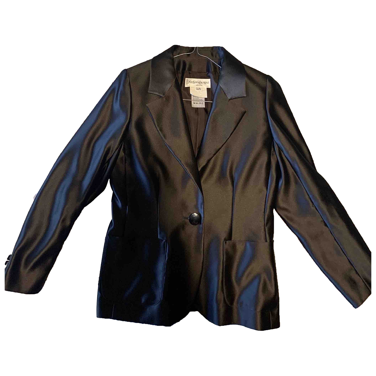 Yves Saint Laurent \N Brown Silk jacket for Women 40 FR
