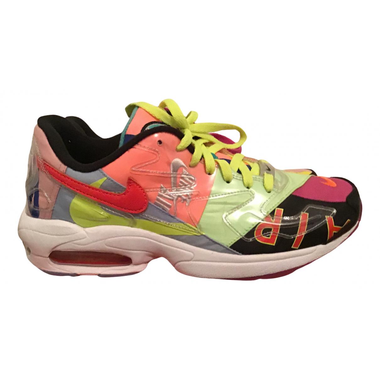 Nike X Atmos - Baskets Air Max 2 Light pour homme en cuir - multicolore