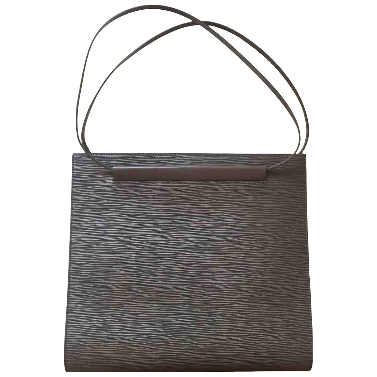 Louis Vuitton \N Anthracite Leather handbag for Women \N