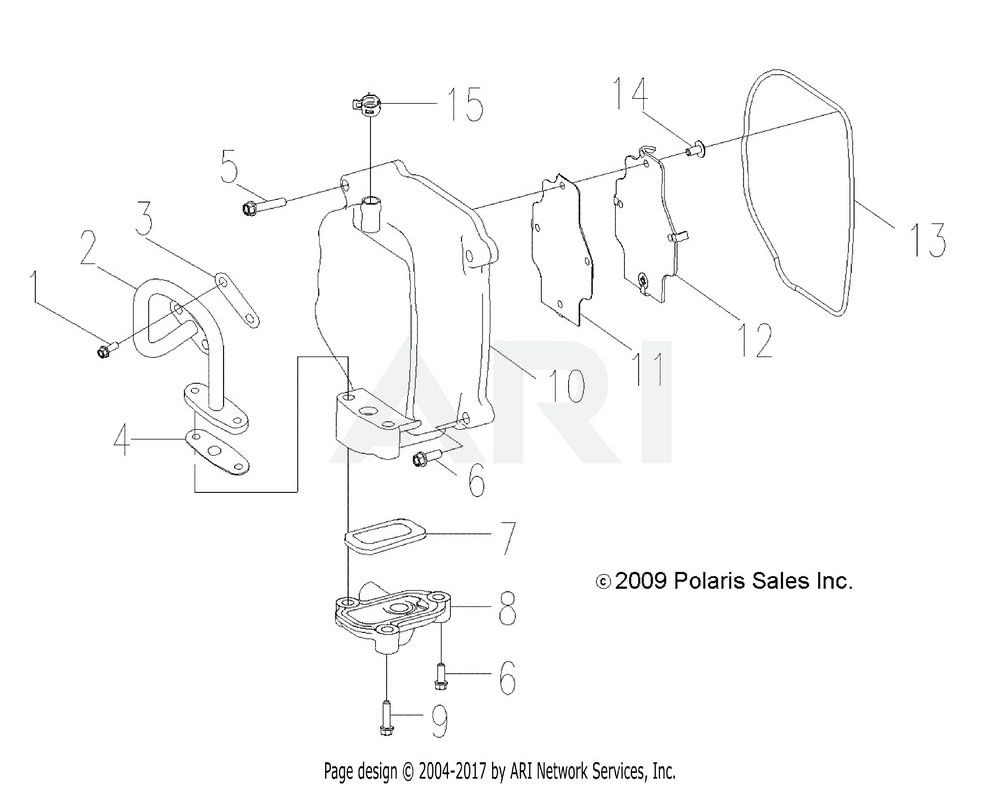 Polaris OEM 0455382 GASKET-CYLINDER HEAD, 170