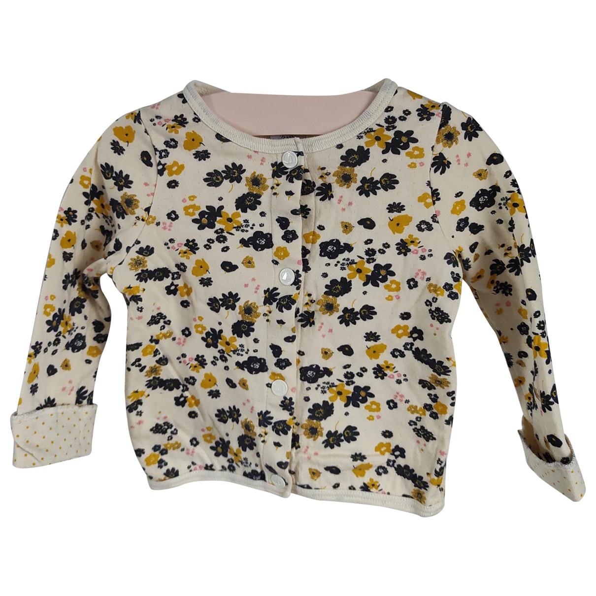 Petit Bateau N Beige Cotton Knitwear for Kids 12 months - up to 74cm FR