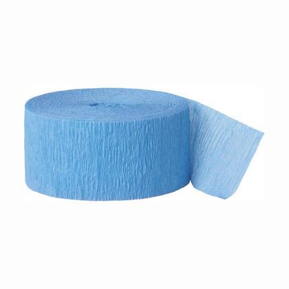 Décorations de fête Party Streamer Crepe Paper 81 ft - Baby Blue