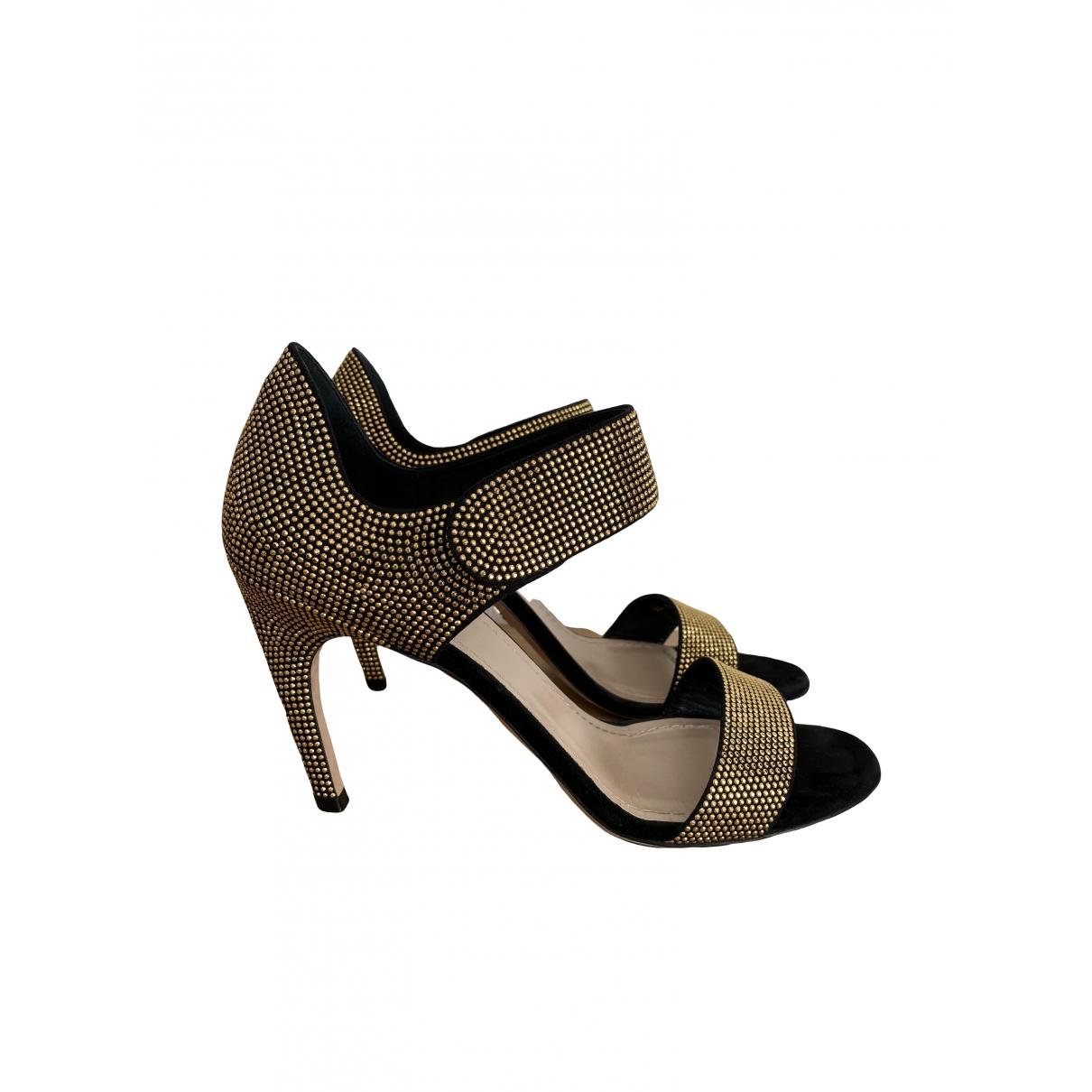 Dior \N Sandalen in  Schwarz Mit Pailletten