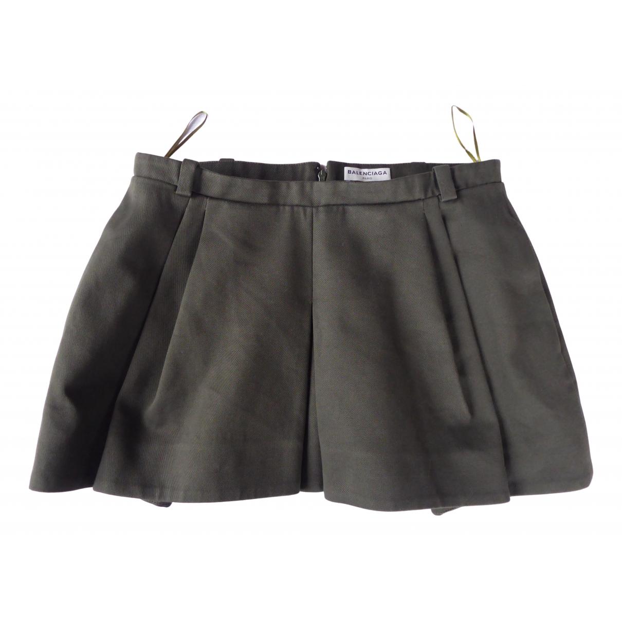Balenciaga - Jupe   pour femme en coton - kaki