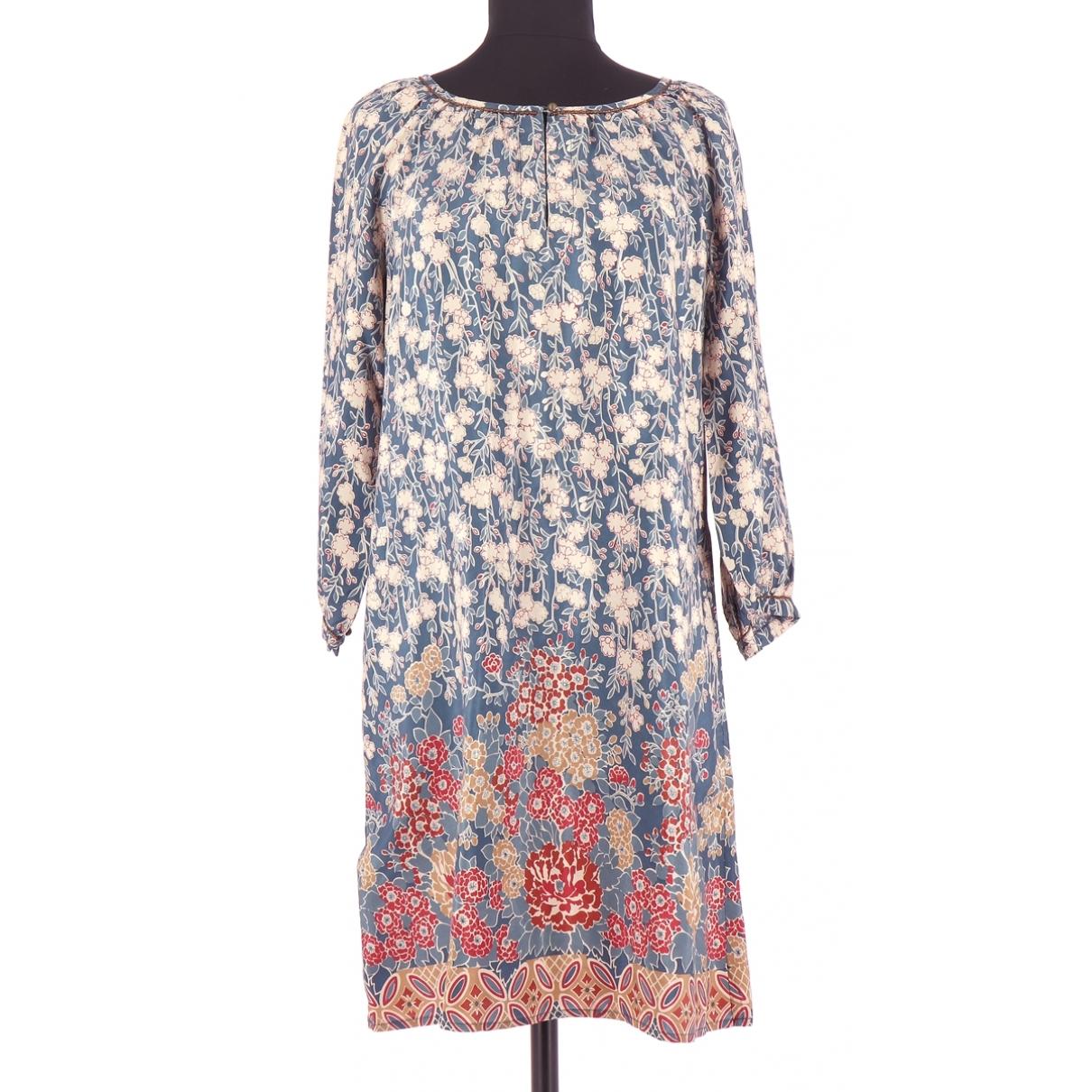 Comptoir Des Cotonniers - Robe   pour femme en soie - bleu
