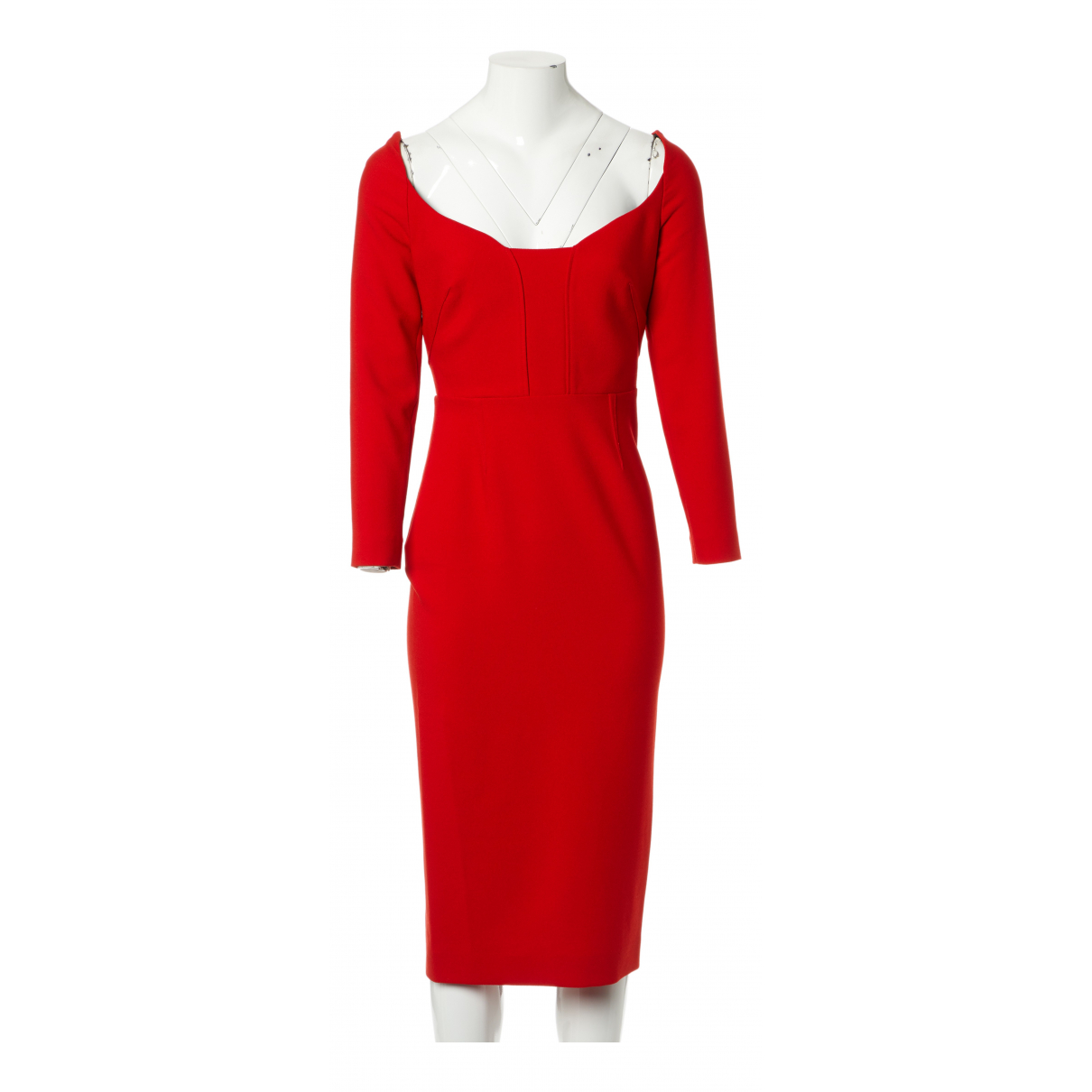 Roland Mouret \N Kleid in  Rot Polyester