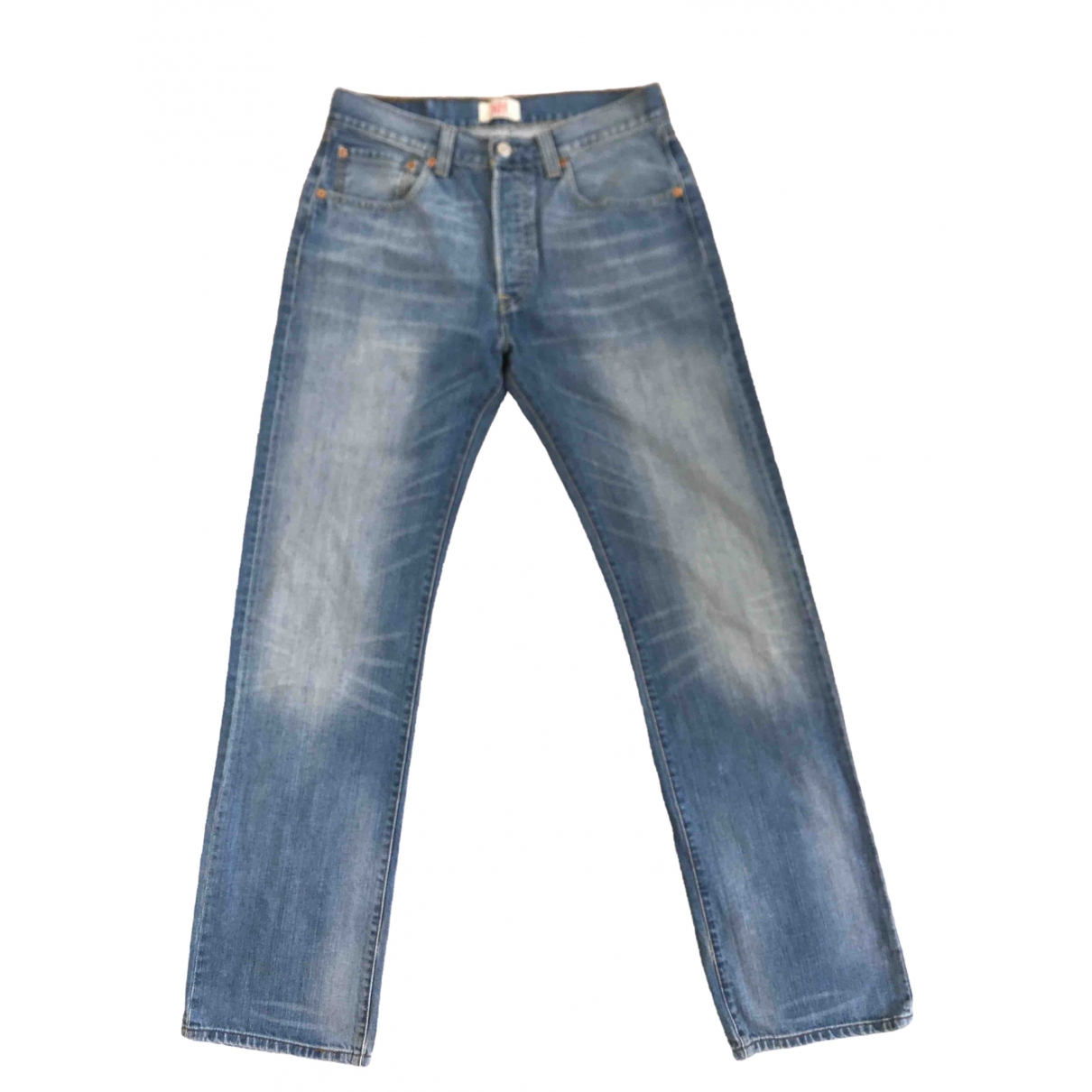 Levi's 501 Blue Cotton Jeans for Women 32 US