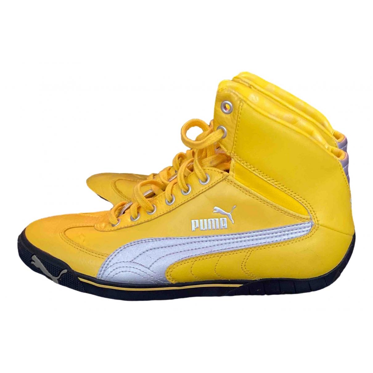Puma \N Sneakers in  Gelb Leder