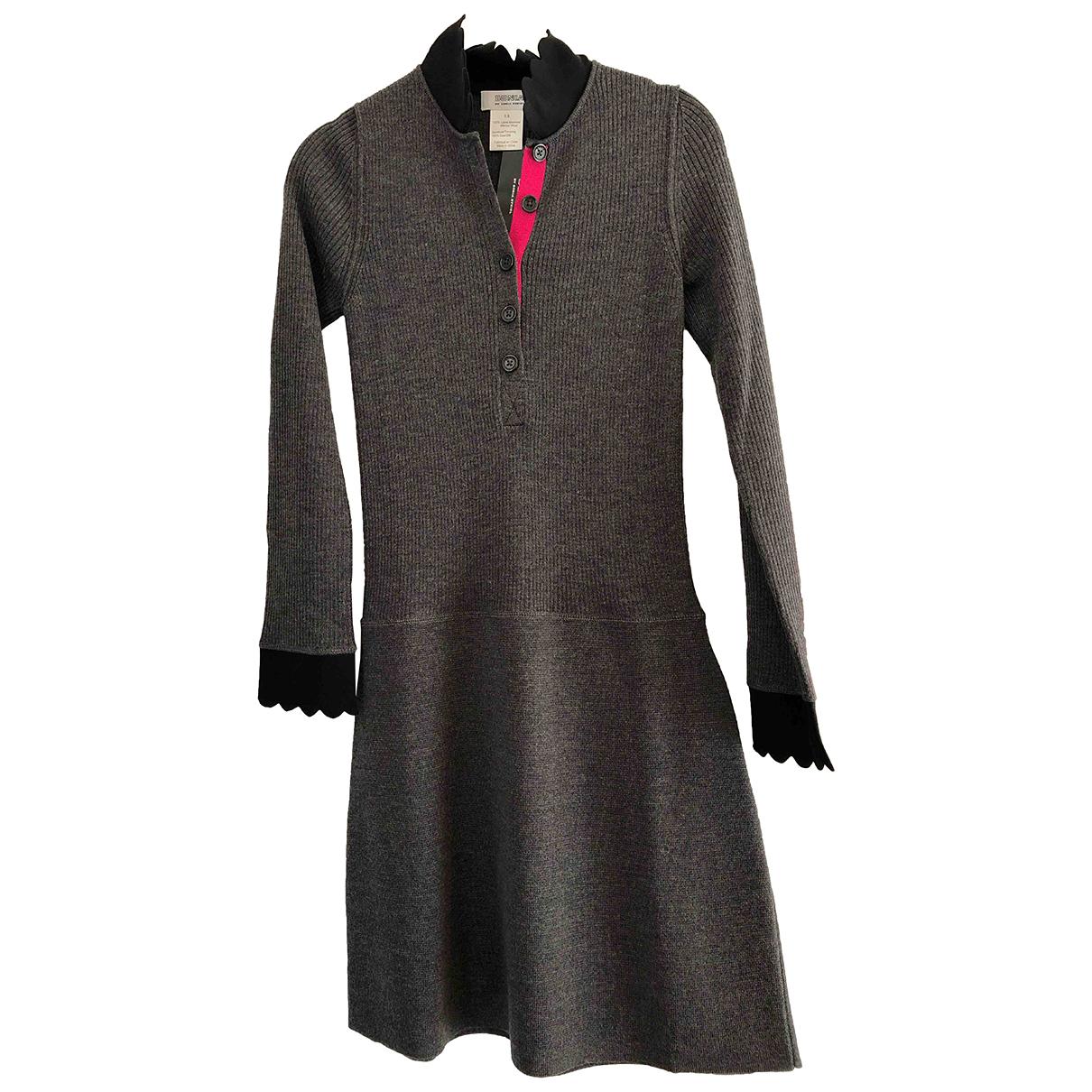 Sonia Rykiel \N Kleid in  Grau Wolle
