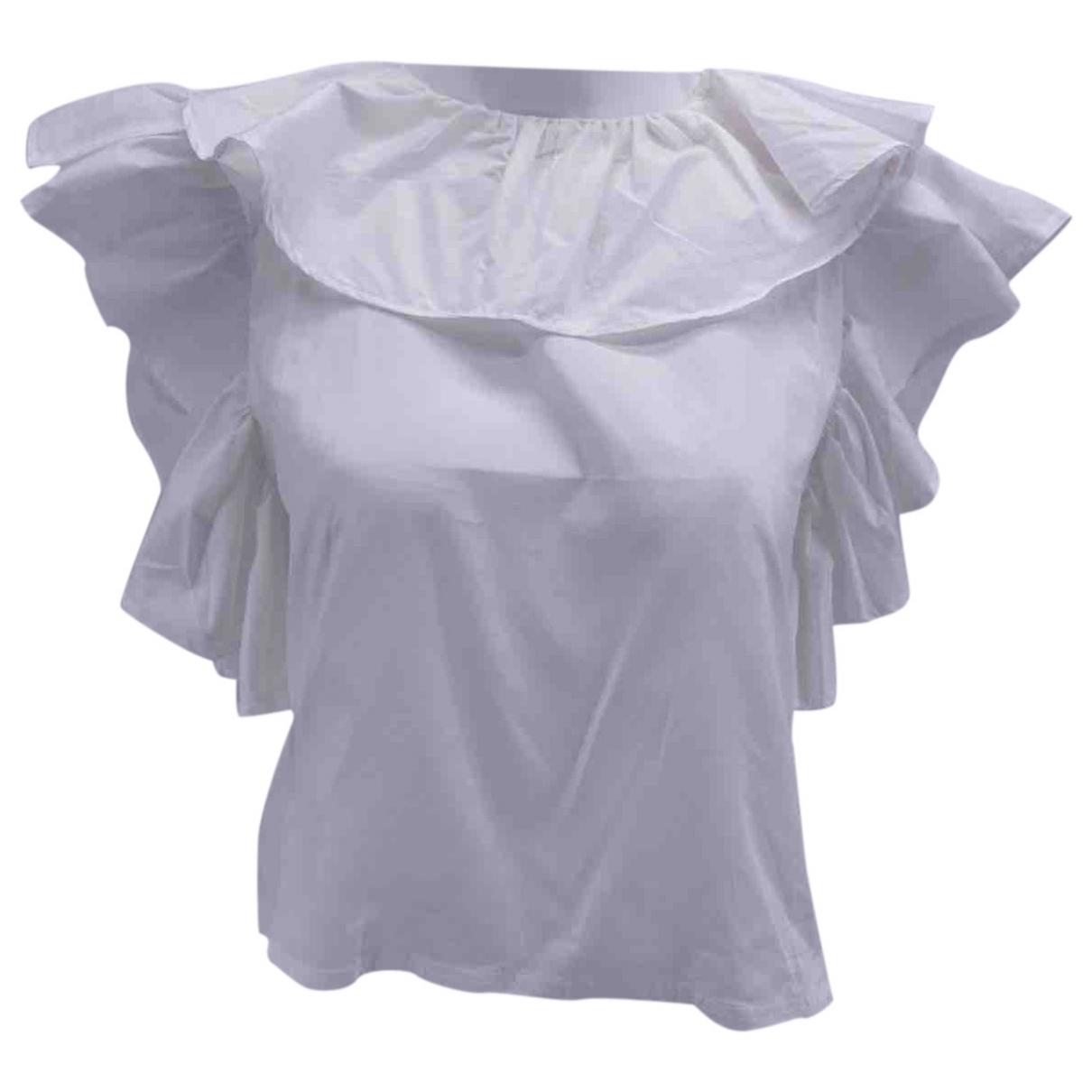 House Of Sunny - Top   pour femme en coton - blanc