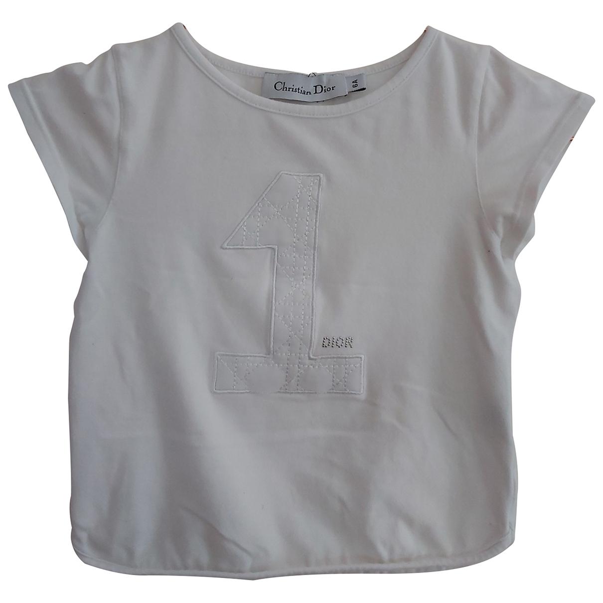 Dior - Top   pour enfant en coton - blanc