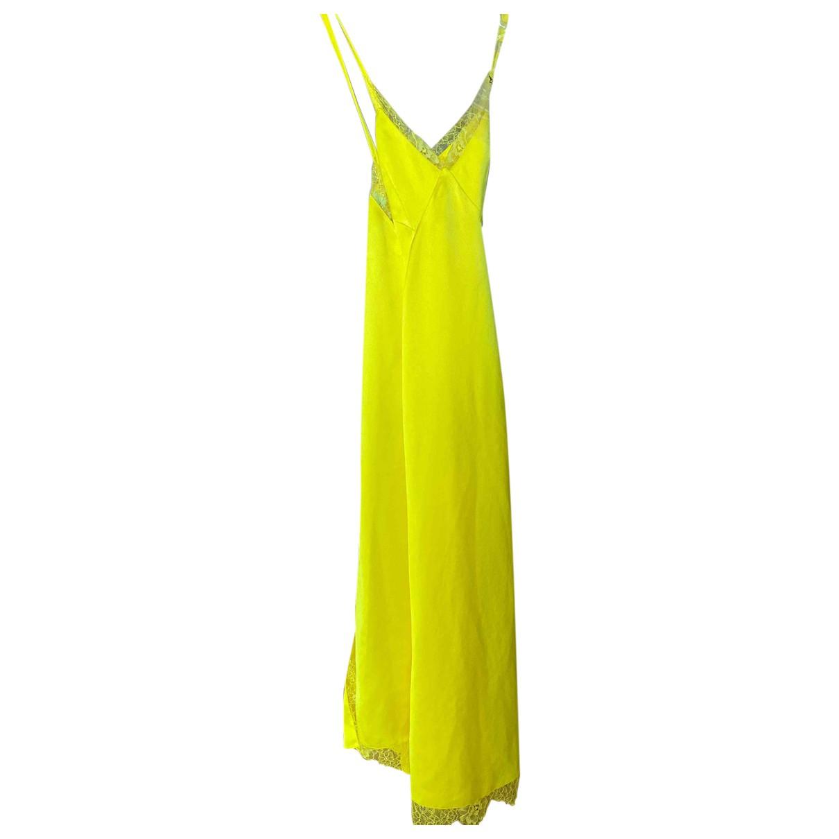 Off-white - Robe   pour femme en soie - jaune