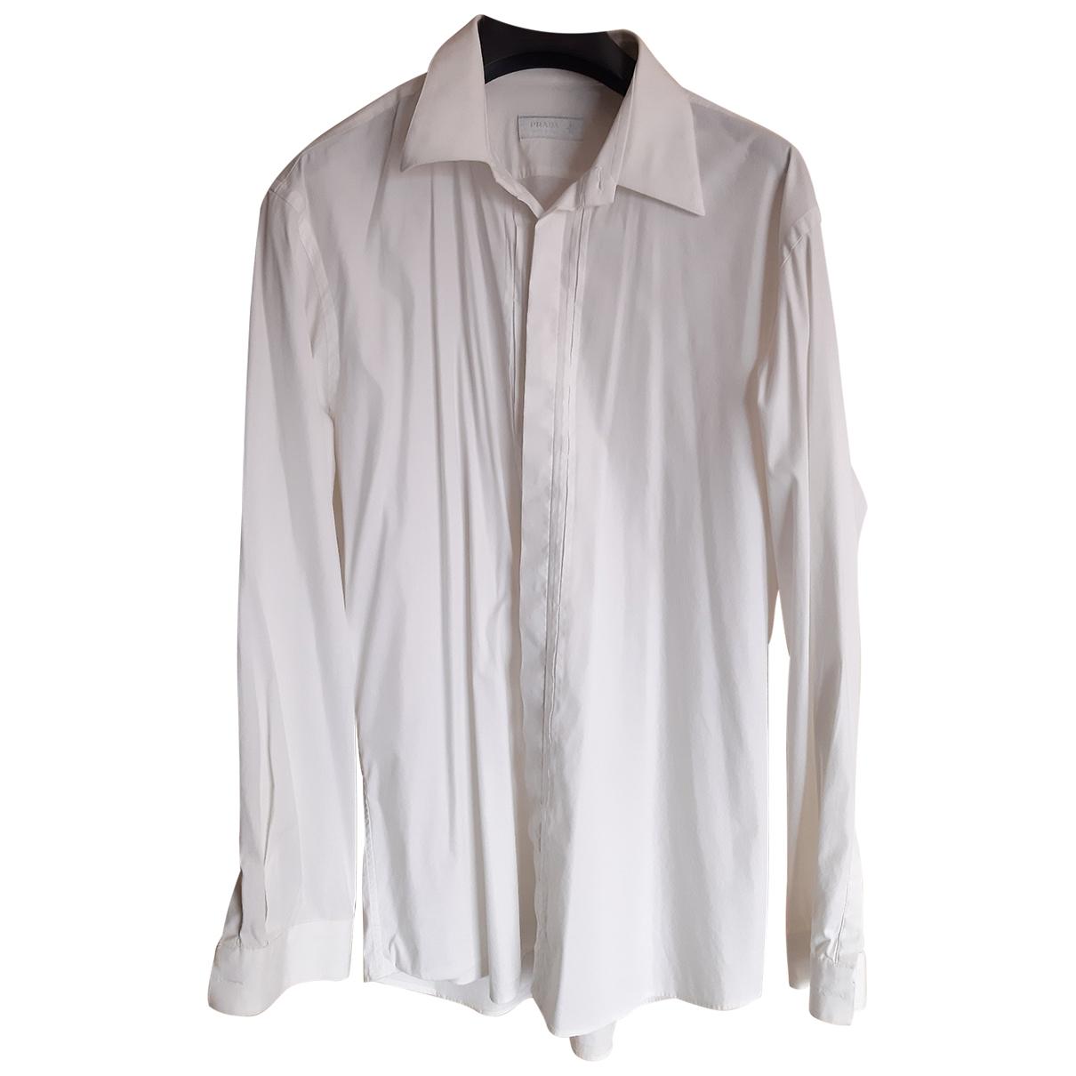 Prada \N White Cotton Shirts for Men M International