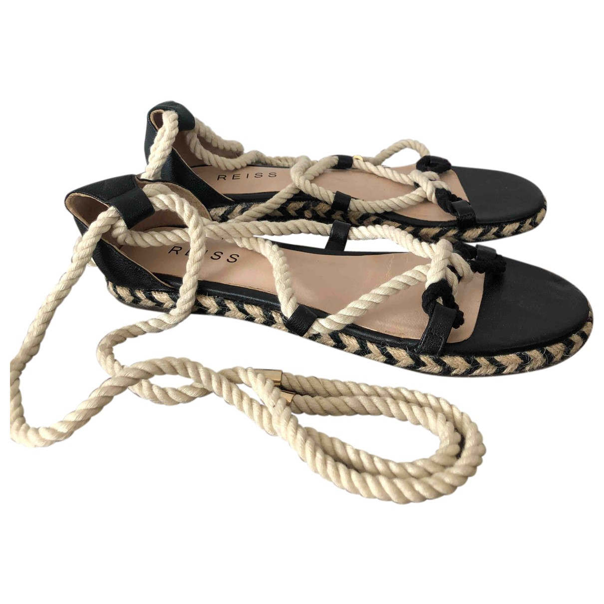 Reiss N Multicolour Leather Sandals for Women 38 EU