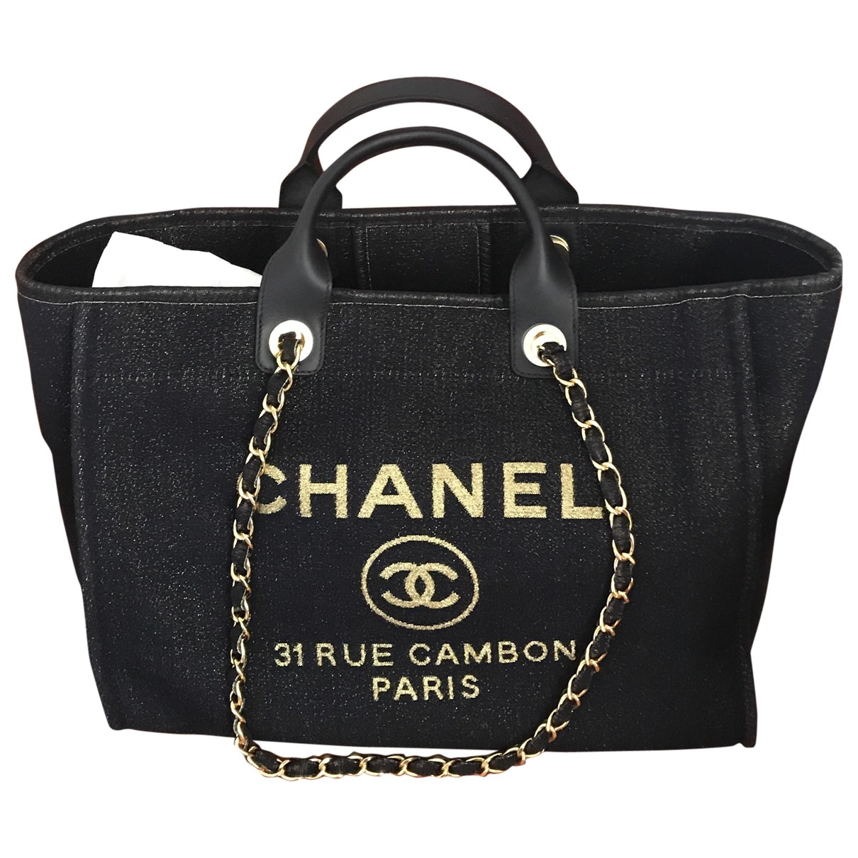 Chanel Deauville Blue Cloth handbag for Women \N