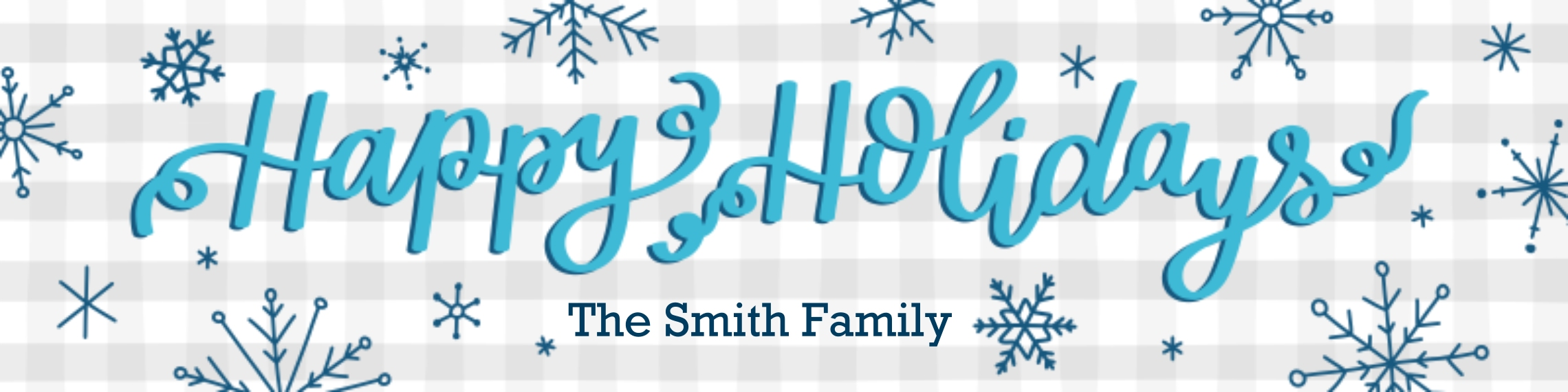 Holiday Vinyl Banner, 2x8, Home Décor -Holiday Snowflakes