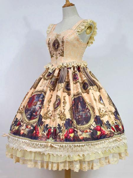 Milanoo Classic Lolita Jsk Jumper Skirt Night Museum Elegant Lolita Jsk Original Design