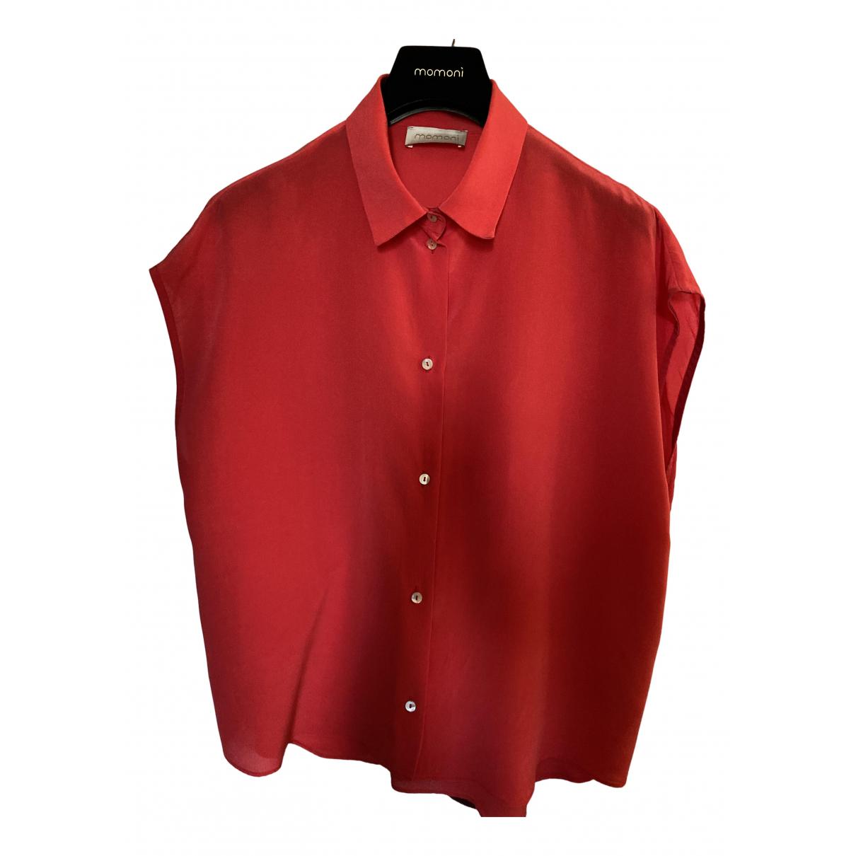 Momoni - Top   pour femme en soie - rouge