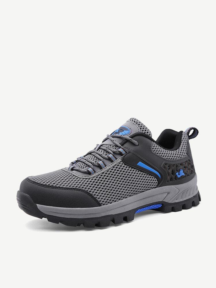 Men Mesh Breathable Outdoor Slip Resistant Hiking Shoes