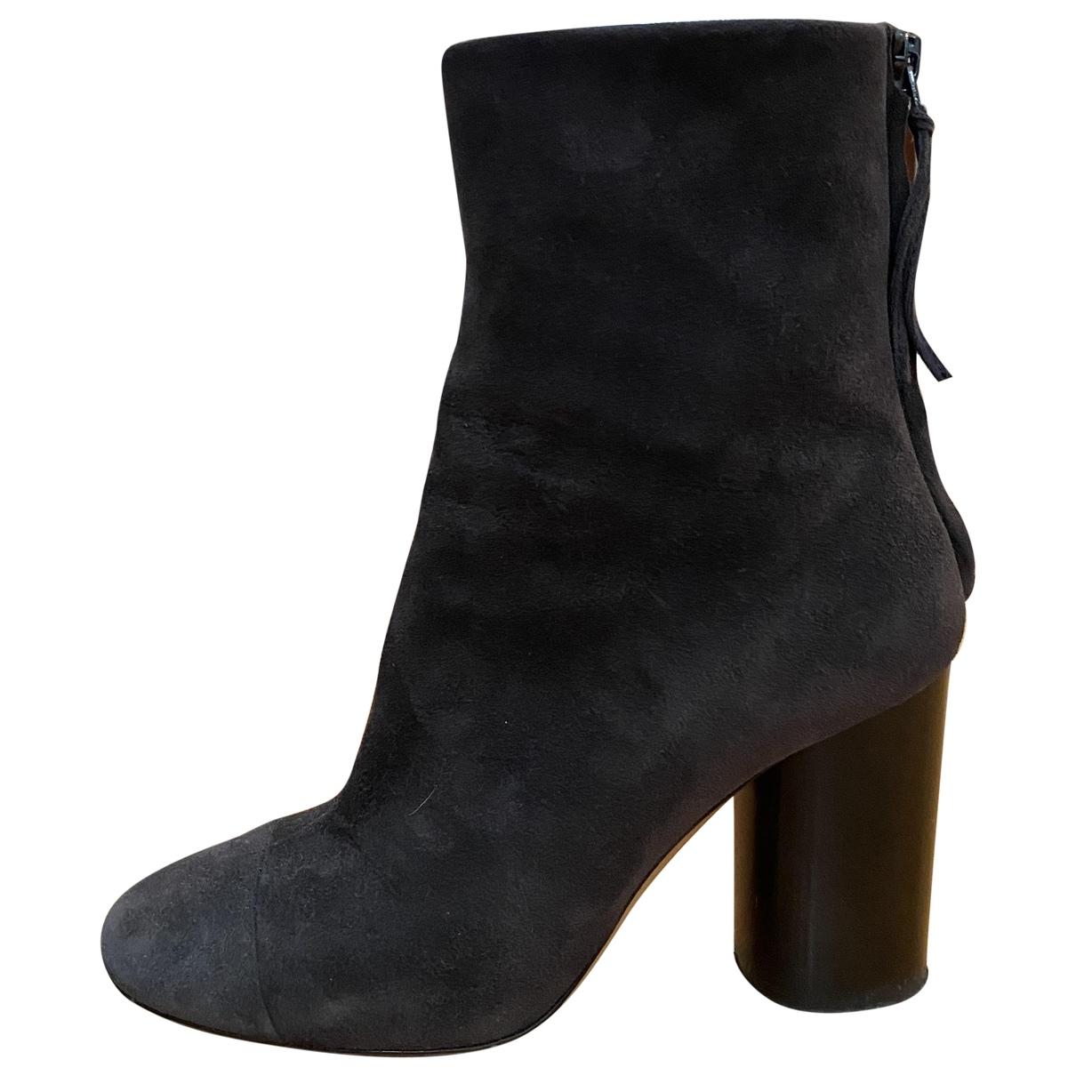 Isabel Marant - Boots Garett pour femme en suede - gris