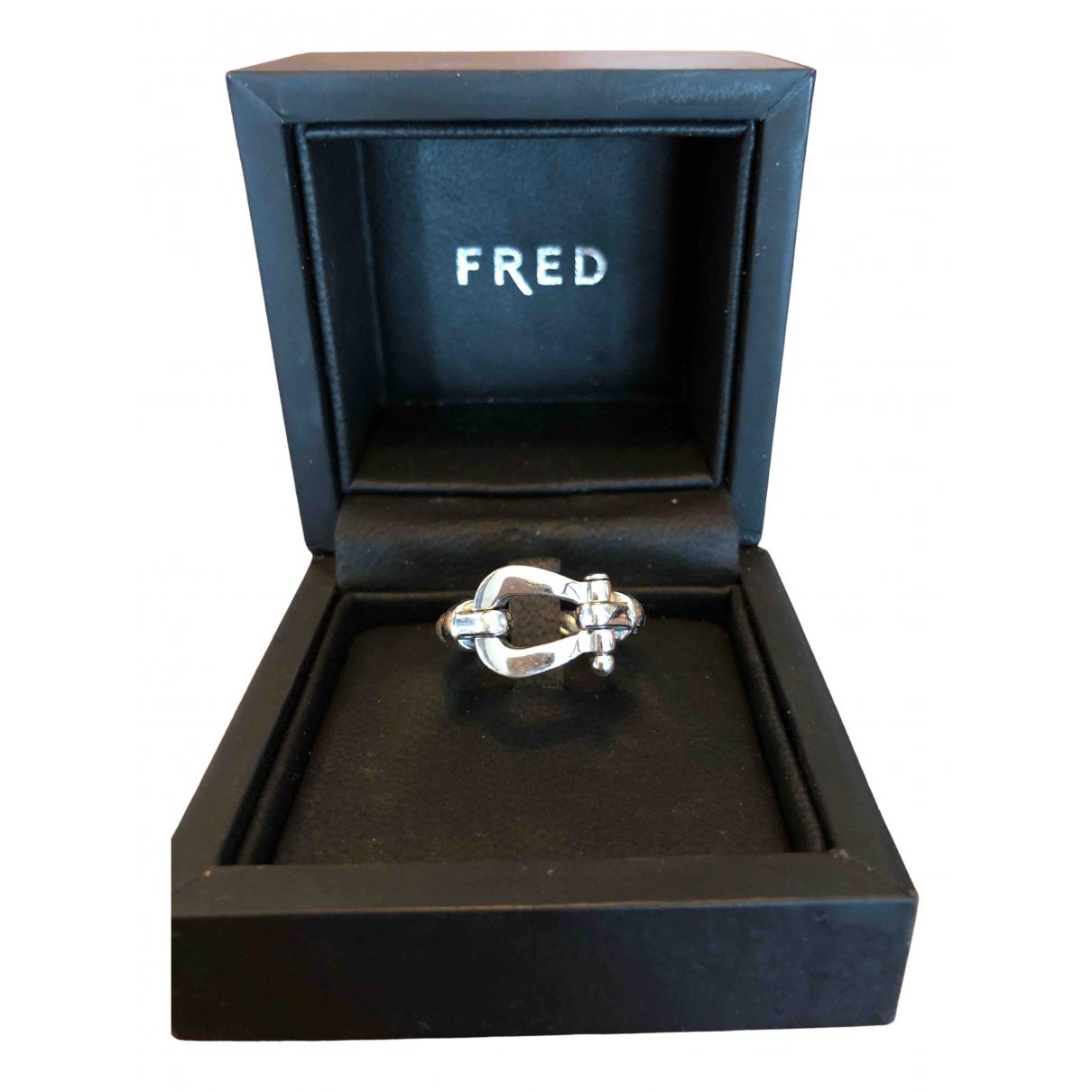 Fred - Bague Force 10 pour femme en or blanc - argente