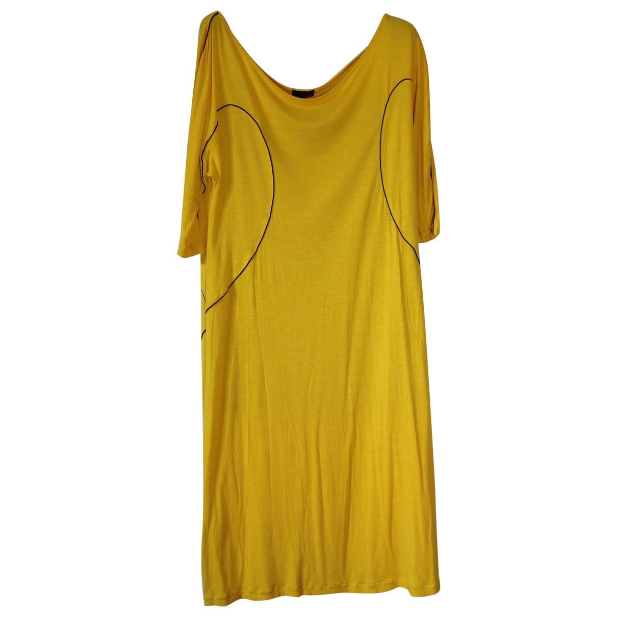 Fendi \N Yellow Cotton dress for Women 40 IT