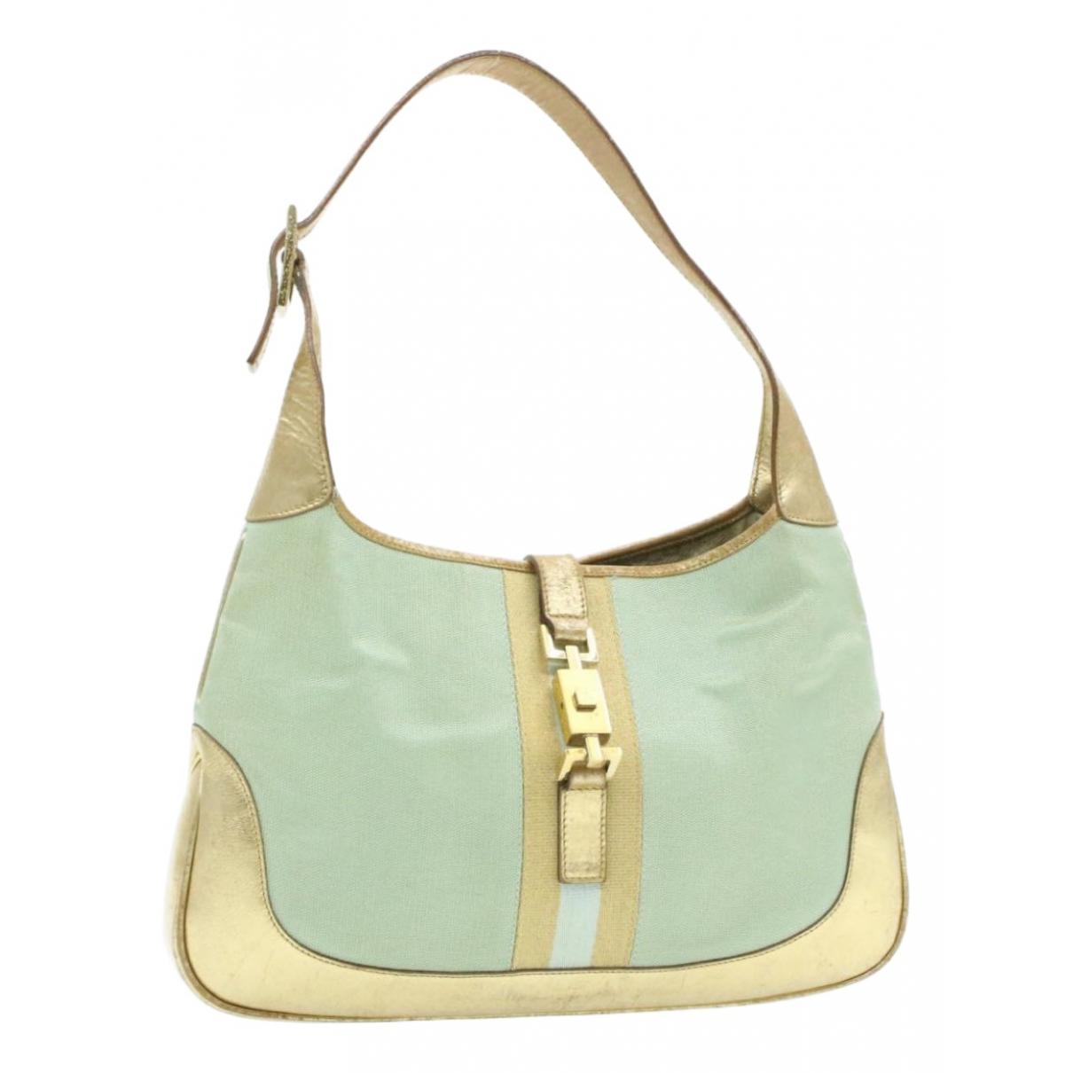 Gucci Jackie Vintage  Handtasche in  Blau Leinen