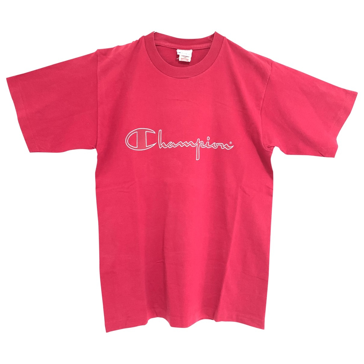 Champion \N T-Shirts in  Rot Baumwolle