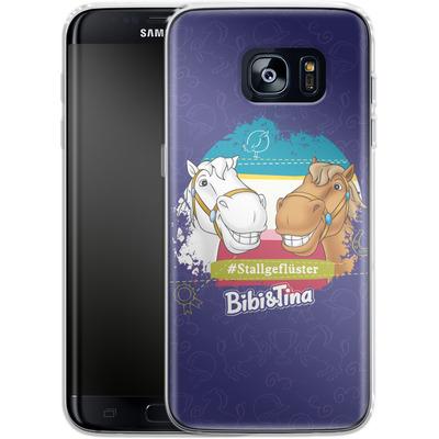 Samsung Galaxy S7 Edge Silikon Handyhuelle - Bibi und Tina Stallgefluester von Bibi & Tina