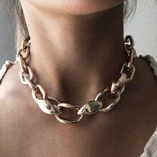 Collar de cadena metalica