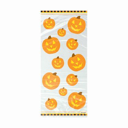 Pumpkin Glow Cellophane Bags, 20ct