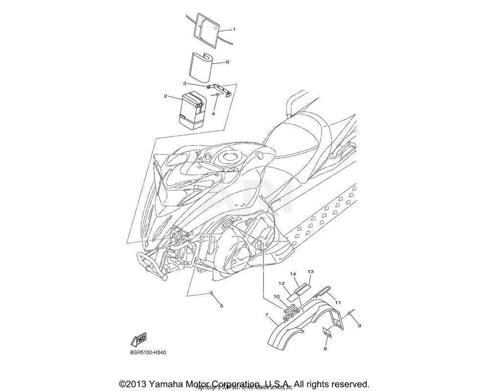 Yamaha OEM 8GJ-77735-00-00 BOX, GLOVE