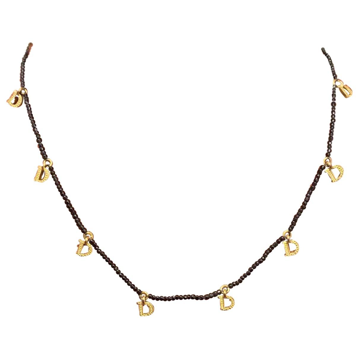 Dior Perles Kette in  Schwarz Metall