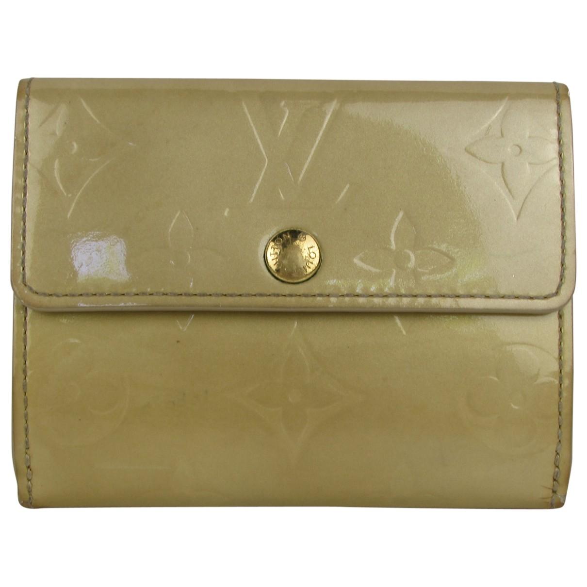 Louis Vuitton \N Beige Patent leather Purses, wallet & cases for Women \N