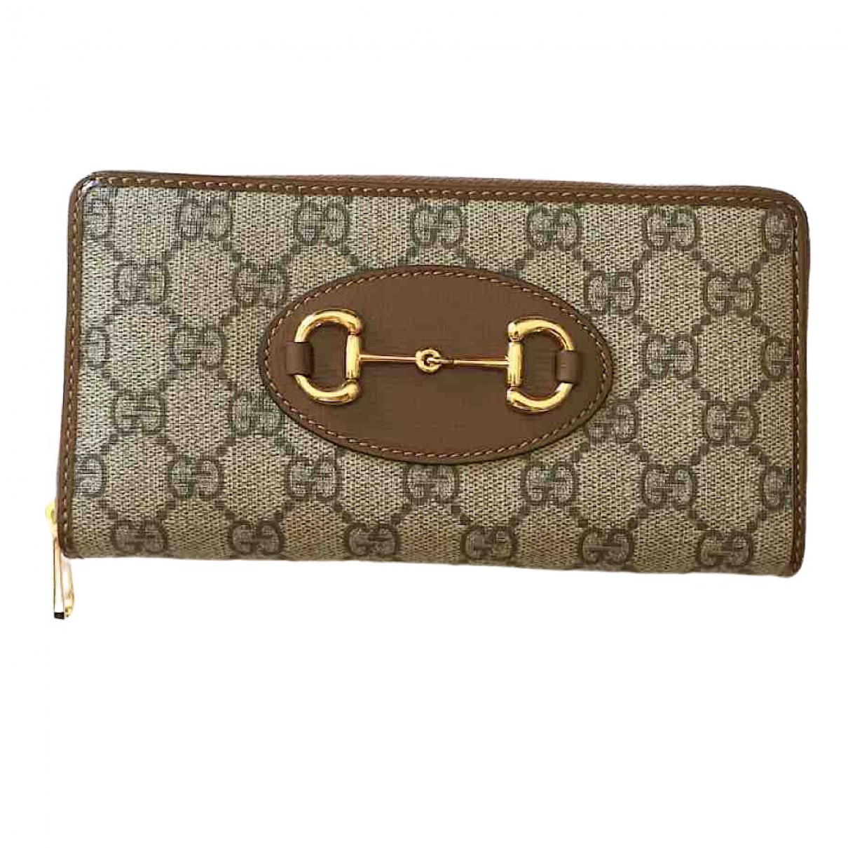 Gucci - Portefeuille   pour femme en toile - marron