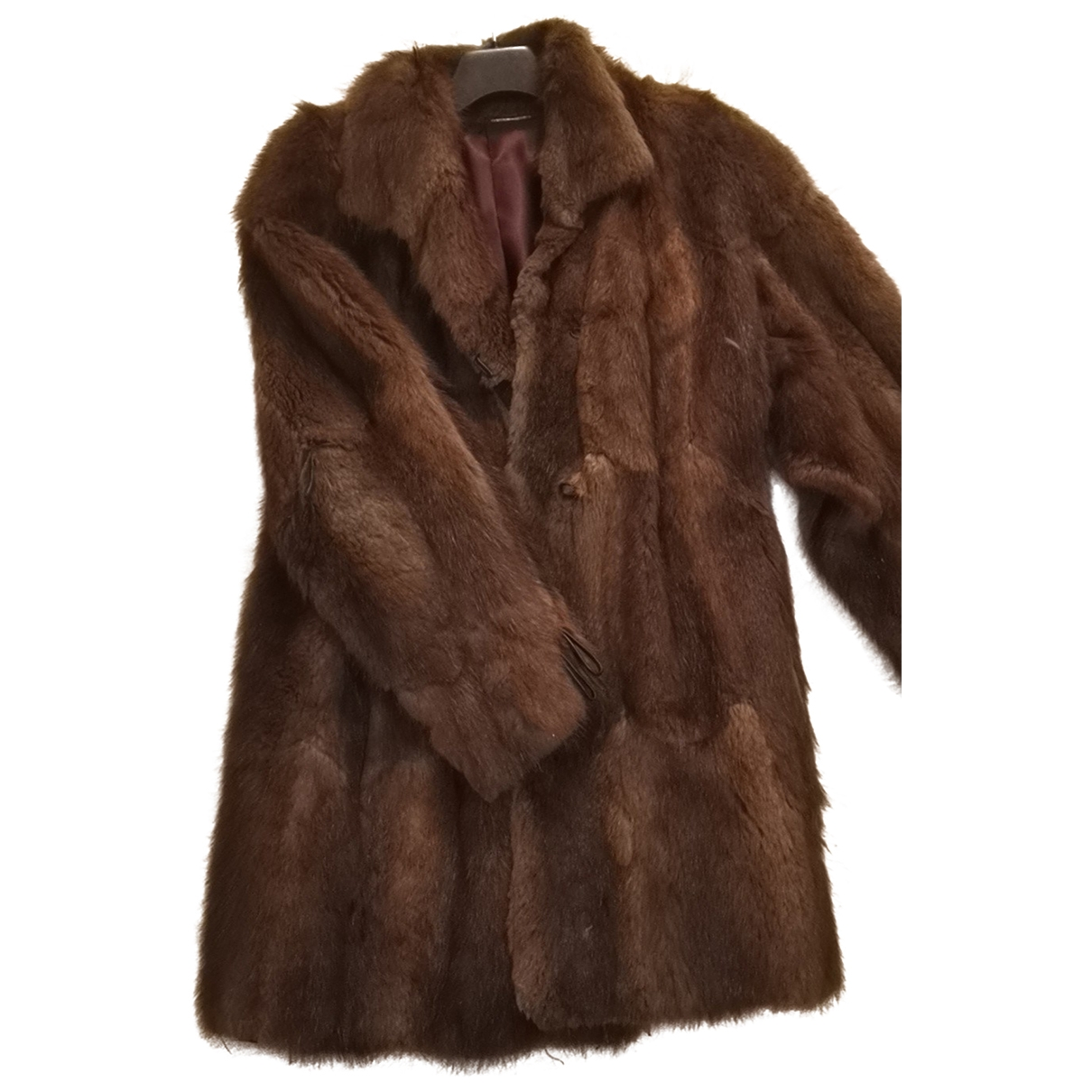 Non Signé / Unsigned \N Brown Mink coat for Women 38 FR