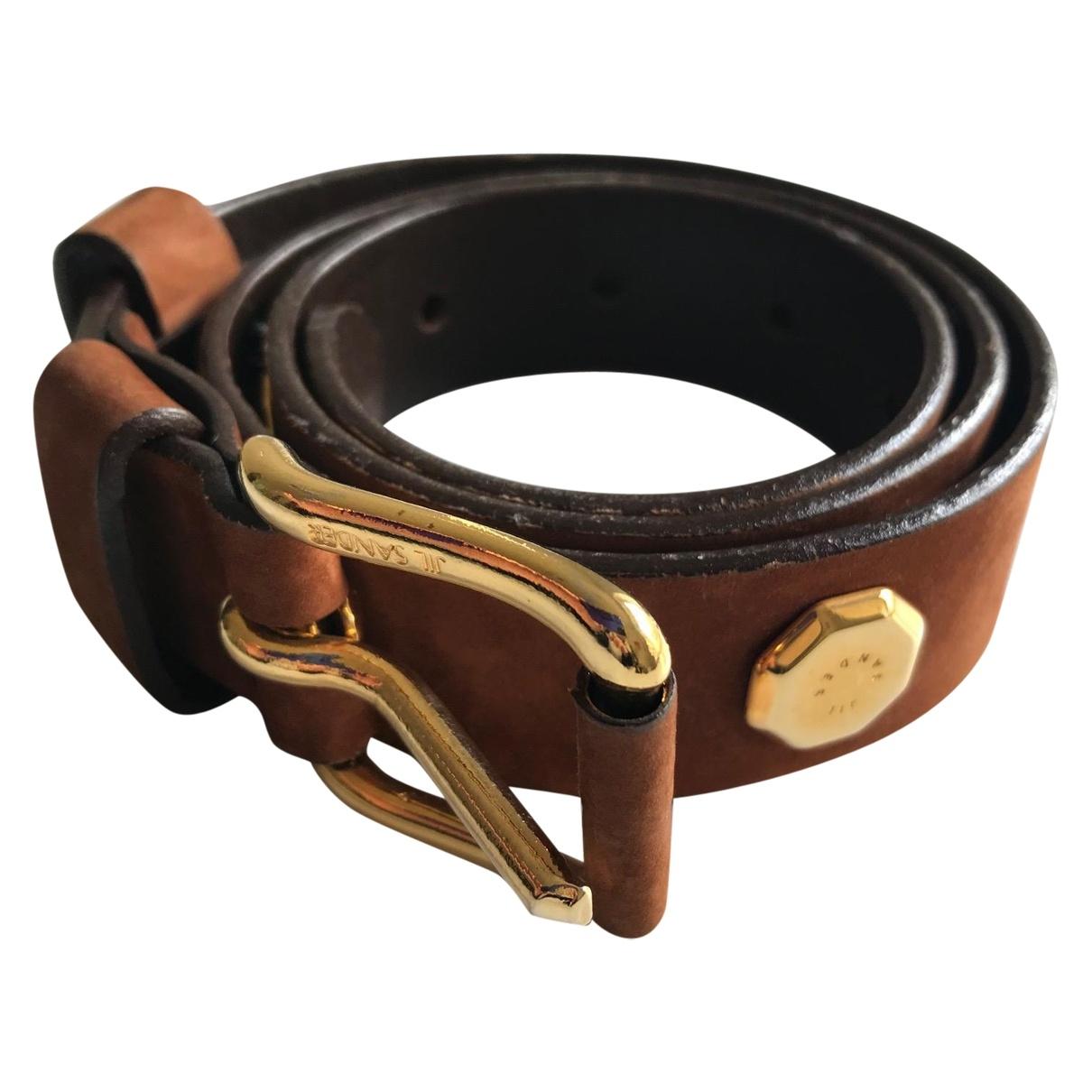 Jil Sander \N Brown Suede belt for Women 80 cm