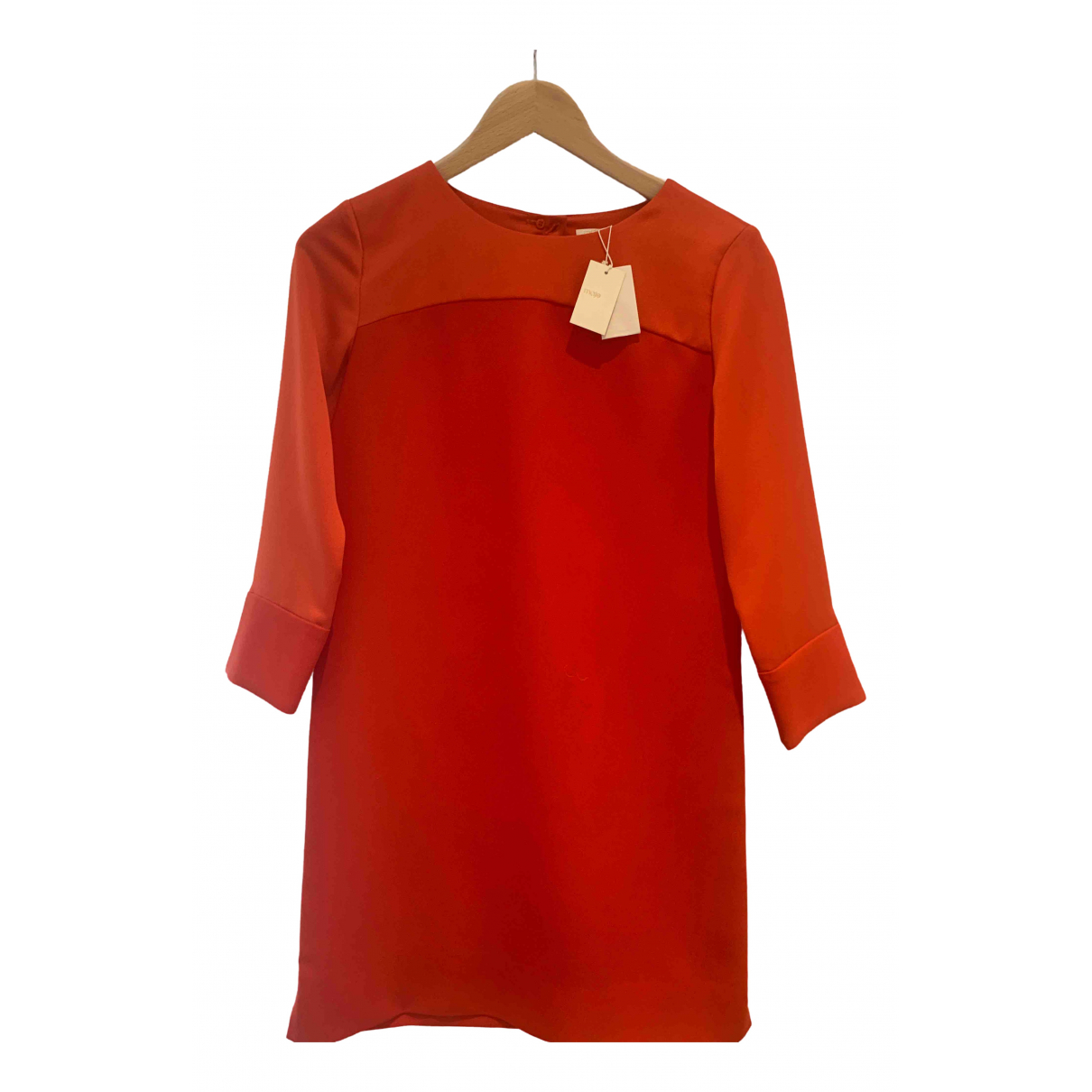 Sandro \N Kleid in  Orange Polyester