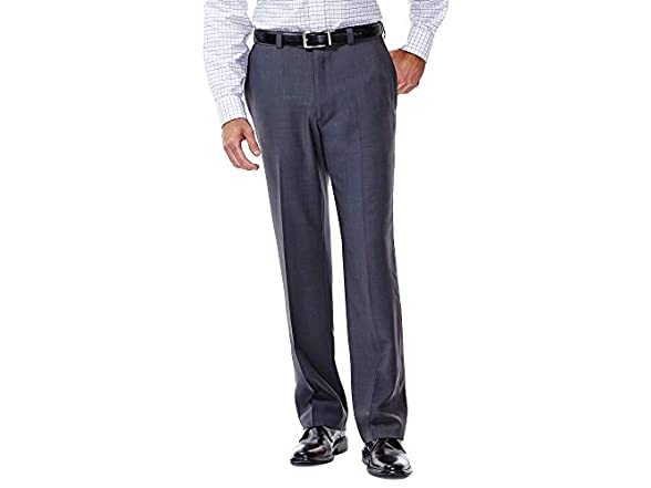 Haggar Men's E-clo Stria Dress Pant