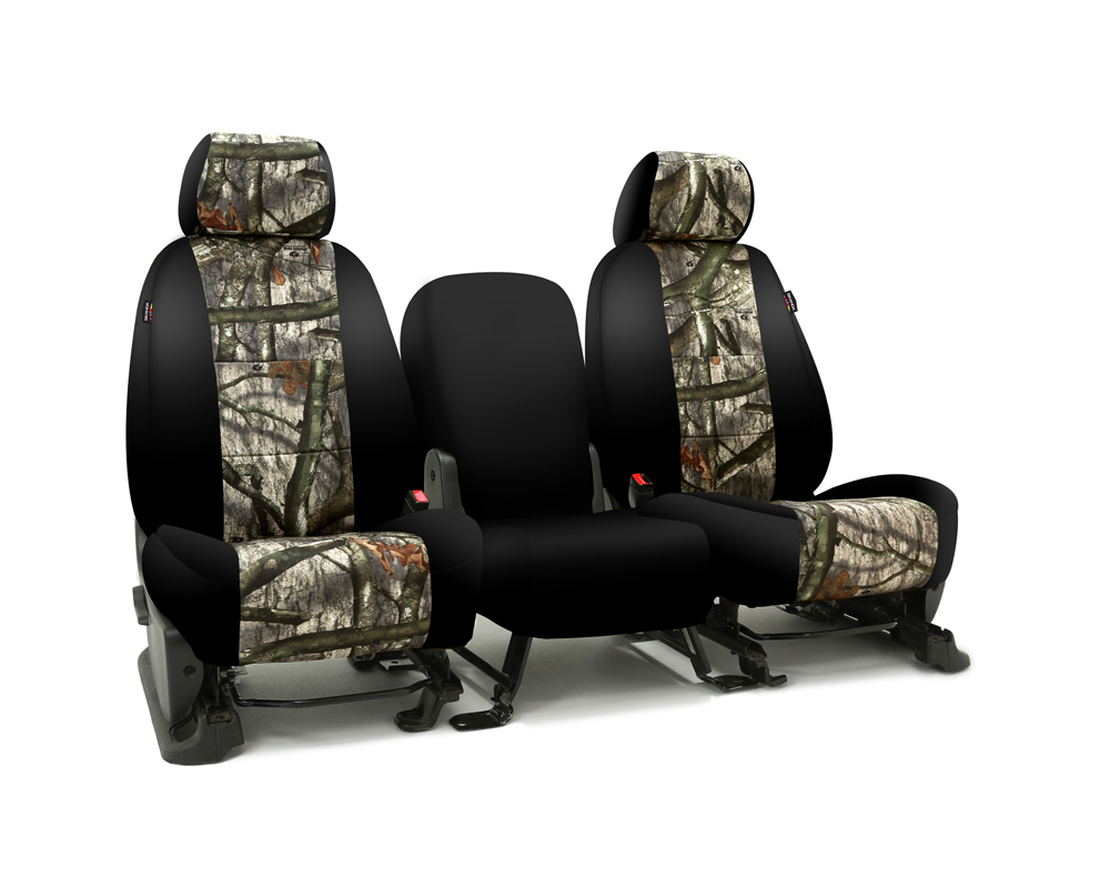Coverking CSC2MO03FD10017 Skanda Custom Seat Covers 1 Row Neosupreme Mossy Oak Treestand with Black Sides Front Ford F-250 | F-350 Super Duty 2017-202