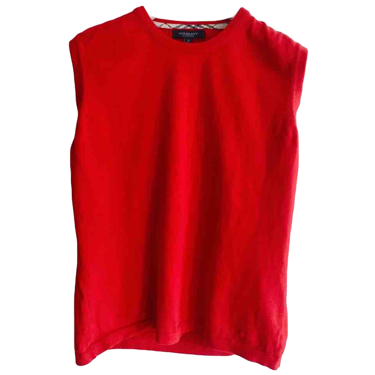 Burberry - Pull   pour enfant en coton - rouge