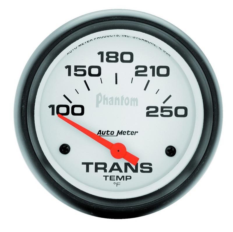 AutoMeter GAUGE; TRANSMISSION TEMP; 2 5/8in.; 100-250deg.F; ELECTRIC; PHANTOM