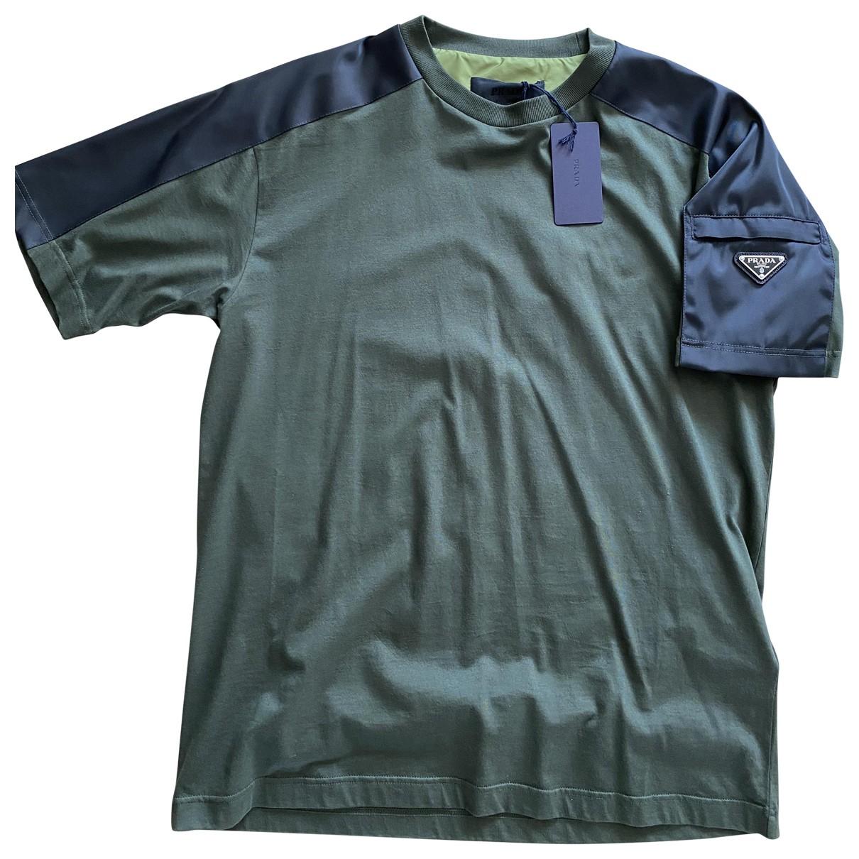 Prada \N T-Shirts in  Khaki Baumwolle