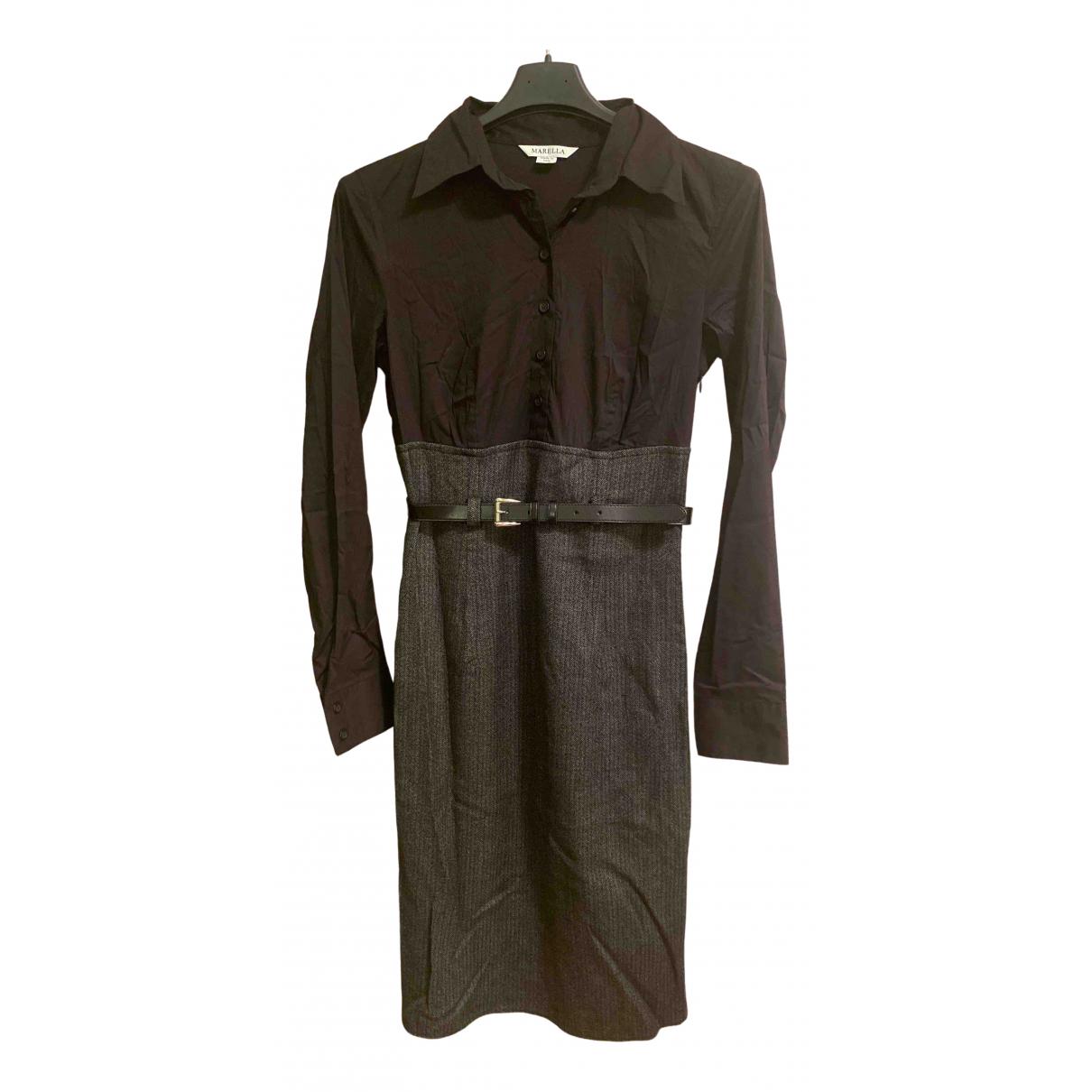 Marella \N Kleid in  Schwarz Wolle
